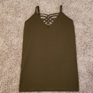 Zenana Outfitters Army Green Cami Tank NWOT